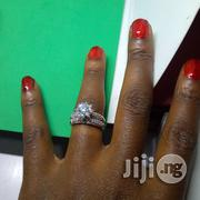 Angelina Scot Engagement Wedding Ring ASL03 - (Silver Rose Gold) | Jewelry for sale in Lagos State, Ikeja