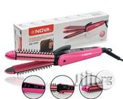3 in 1 Nova Hair Straightener With Curler Comb | Tools & Accessories for sale in Lagos State, Agboyi/Ketu