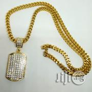 Men's Iced Out Pendant Franko Chain Necklace 01 - Gold | Jewelry for sale in Lagos State, Ikeja