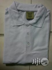 Plain White Super Gold Polo T-Shirts | Clothing for sale in Lagos State, Lagos Island
