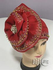Red Beaded Turban Cap | Clothing Accessories for sale in Lagos State, Ojodu