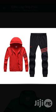 Adidas Tracksuit Up And Down Woodard Red | Clothing for sale in Lagos State, Surulere