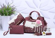 Ladies Leather Brown Handbag With Purse 3 in 1 Set   Bags for sale in Lagos State, Victoria Island