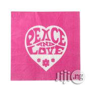 Peace And Love Coloured Lunch Napkin/ Serviette | Kitchen & Dining for sale in Lagos State, Surulere