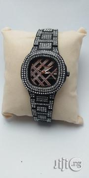 Black Wrist Watch Studded Ice Watch   Watches for sale in Lagos State, Oshodi-Isolo