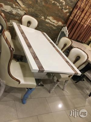 High Quality Marble Dining Table With 6 Royal Chairs