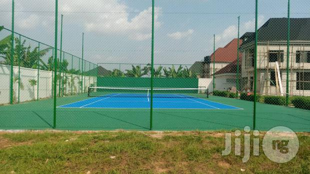 Basketball Court Construction Or Lawn Tennis Court