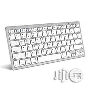 Ultra Slim Wireless Bluetooth Keyboard for All Ios, iPad, Android, Mac, Windows Devices - Silver White | Computer Accessories  for sale in Lagos State, Ikeja