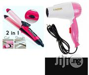 2in1 Hair Straightener/Curler And Hair Dryer | Tools & Accessories for sale in Lagos State, Amuwo-Odofin