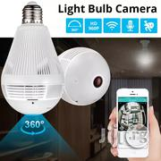 LED Light 960P Wireless Panoramic Home Security Wifi CCTV Fisheye Bulb Lamp IP Camera 360   Security & Surveillance for sale in Lagos State, Ikeja