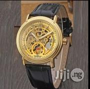 Winner Engine WRISTWATCH Leather Skeletal | Watches for sale in Lagos State, Yaba
