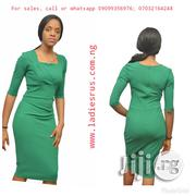 Speak and Work Elegance in This Green Body-Con Dress With Long Sleeve Hands | Clothing for sale in Imo State, Owerri