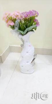 White And Silver Longvase | Home Accessories for sale in Lagos State, Yaba