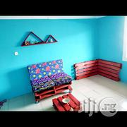 Adorable Ankara Sofa + Coffee Table + Shelf ( FREE DELIVERY IN LAGOS)   Furniture for sale in Lagos State, Isolo