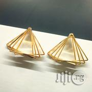 Womens Alloy Geometric Hollowed Multi-layer Triangle Hook Earrings, Gold (Gold) - 12010 | Jewelry for sale in Lagos State, Amuwo-Odofin