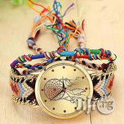 Fashion Ladies Handmade Braided Bracelet Quartz Watch With Matching Rope Band | Watches for sale in Lagos State, Amuwo-Odofin