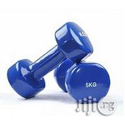 A Pair Of 5kg Coated Dumbbell | Sports Equipment for sale in Akwa Ibom State, Eket