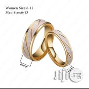 His & Hers Durable Striped Italian Wedding Bands - 2pcs | Jewelry for sale in Lagos State, Victoria Island