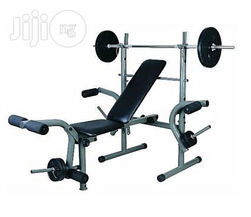 American Fitness Weight Bench Press With 50kg Weight