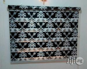 Italian Black and White Zebra Shade Blinds
