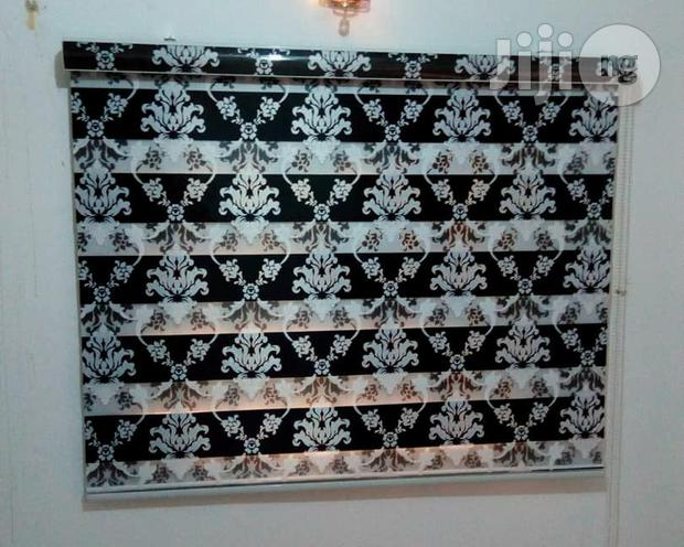 Archive: Italian Black and White Zebra Shade Blinds
