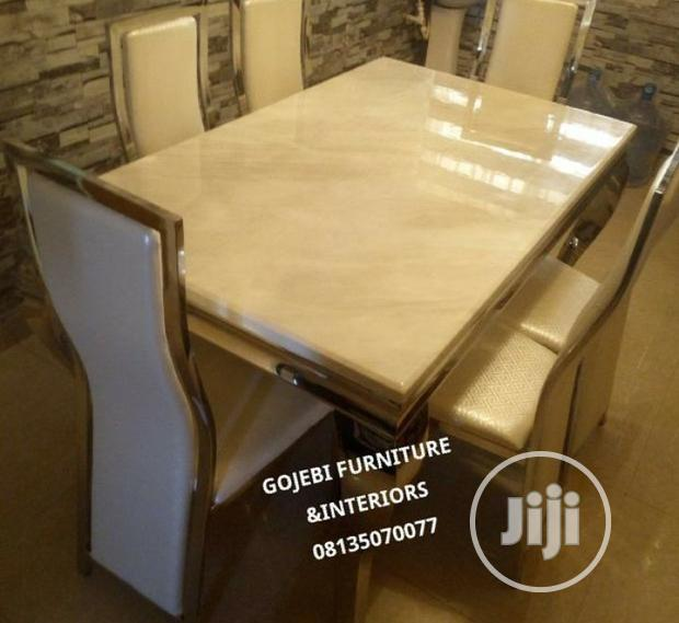 Quality Marble Dining Table by 6
