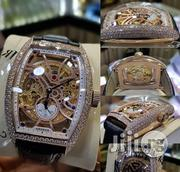 Full Iced Automatic Franck Muller With Genuine Leather Strap | Watches for sale in Lagos State, Lagos Island