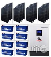 5kva Hybrid Inverter With 8 Batteries & Solar Installation | Solar Energy for sale in Lagos State, Ikeja
