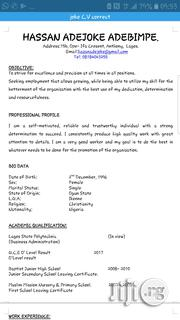 Assistant Secretary Cv | Office CVs for sale in Lagos State, Maryland
