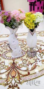 White and Silver Long Flower Vase, | Home Accessories for sale in Lagos State, Yaba
