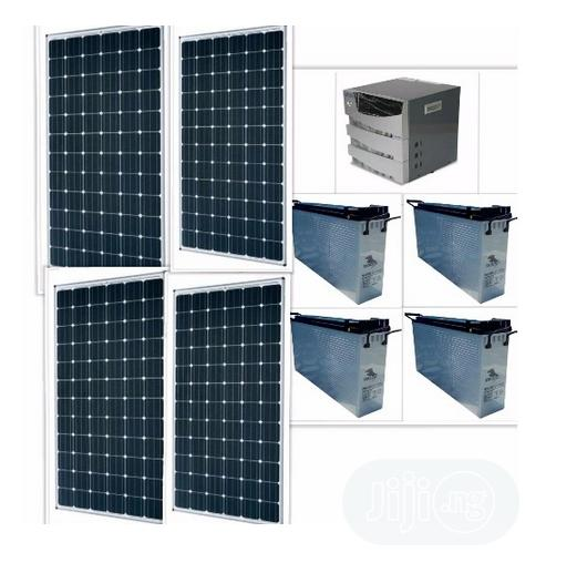 3.5kva Inverter With 4 Batteries And Solar Panels