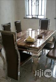 Reliable Marble Dining Table 6seaters   Furniture for sale in Lagos State, Lekki Phase 1