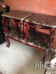 Standard Wooden Center Table With 2 Side Stools | Furniture for sale in Rivers State, Akuku Toru
