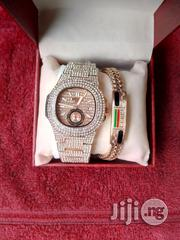 Patek Philippe Ice Stones Wristwatch Gucci Bracelets | Jewelry for sale in Lagos State, Surulere