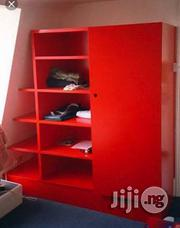 One Door Wardrobe With Slanted Open Shelves | Furniture for sale in Lagos State, Ibeju