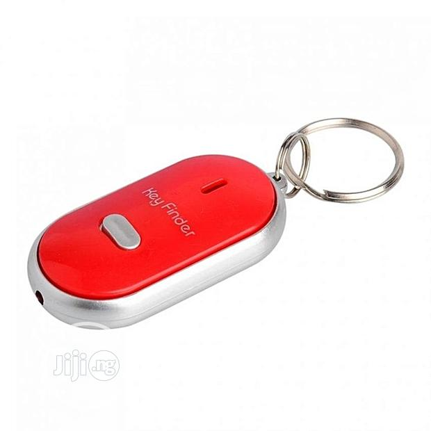 Whistle Key Finder With Light And Alarm -red