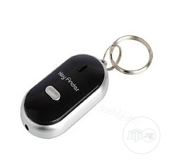 Plapie Whistle Key Finder With Light And Alarm -black