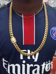 Cuban Men's Gold Necklace | Jewelry for sale in Lagos State, Surulere