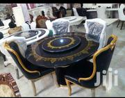 Black/Gold Round Marble Dinning Set | Furniture for sale in Abuja (FCT) State, Wuse