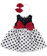 Turkey Eray Polka Dot Dress With Red Hair Band | Children's Clothing for sale in Lagos State, Isolo