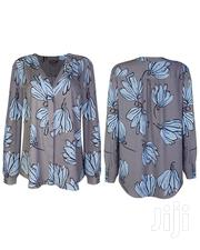 Ladies Plus Size Printed Blouse - Grey/Blue Mix | Clothing for sale in Lagos State, Lagos Mainland