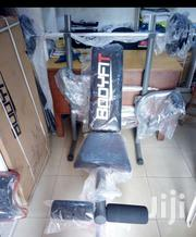 Bodyfit Weight Bench With 30kg Plate and Barbell | Sports Equipment for sale in Lagos State, Ikorodu