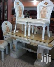 Reliable Royal Marble Dining Table With Six Durable Leather Chairs   Furniture for sale in Lagos State, Lekki Phase 2