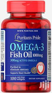 Omega-3 Fish Oil 1000 Mg - 300 Mg Active Omega-3 -100 Softgels   Vitamins & Supplements for sale in Lagos State, Surulere