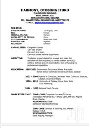 Administrator | Clerical & Administrative CVs for sale in Akwa Ibom State, Uyo