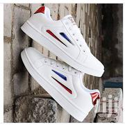 Fashion Smart Trendy Unisex Sneakers- White Intouch of Red | Shoes for sale in Abuja (FCT) State, Gwagwalada