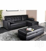 Leather L Shaped Sofa With Ottoman | Furniture for sale in Lagos State, Lagos Island