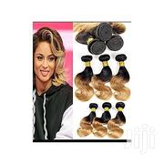 Black And Gold Short Weavon 8pcs Full Hair Amount | Hair Beauty for sale in Lagos State, Ikeja
