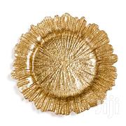 Wholesale Reef Glass Gold Charger Plate | Kitchen & Dining for sale in Lagos State