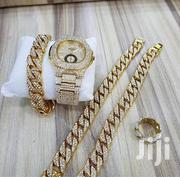 Complete Of Patek Phillipe Watch, Neck, Hand Chain & Ring Gold | Watches for sale in Lagos State, Ikeja